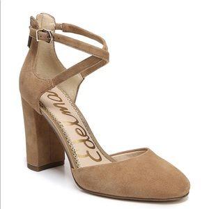 Sam Edelman Simmons Pump Heels Suede Camel Size 6
